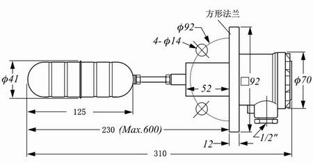 浮球控制星三角启动电路图